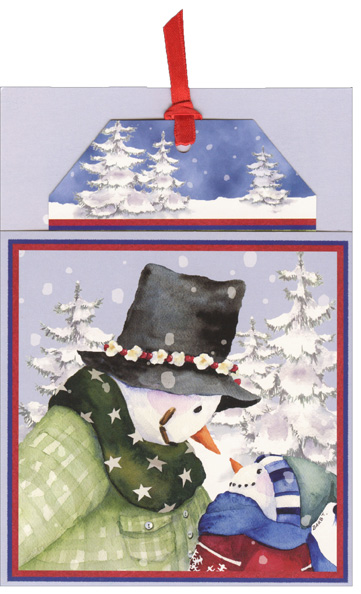 Frank & Frank Jr Pocket Ornament Card (12 cards/12 envelopes) - Boxed Holiday Cards - FRONT: No Text  INSIDE: May your holidays and New Year be filled with those you love.