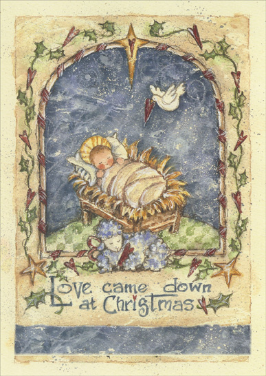 Baby Jesus With Lamb Dove Box Of 16 Shelly Rasche