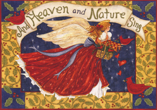 And Heaven and Nature Sing (1 card/1 envelope) - Christmas Card - FRONT: And Heaven and Nature Sing  INSIDE: Let the wonder and joy of the birth of Jesus fill your days with peace and love.