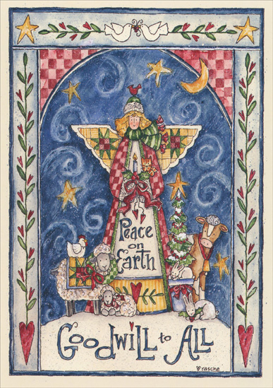 goodwill to all shelly rasche christmas card - Peace On Earth Christmas Cards