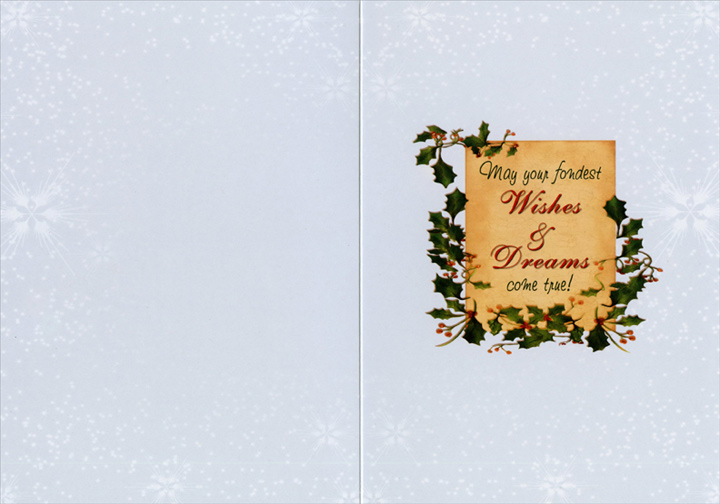 Wish, Dream, Believe (14 cards & 14 envelopes) Boxed Christmas Cards - FRONT: WISH - A Season for Wishing - Dream - A Season for Dreaming - Believe - A Season for Believing  INSIDE: May your fondest Wishes & Dreams come true!