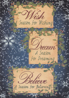 Wish, Dream, Believe Box of 14 Christmas Cards