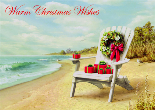 Presents for You (1 card/1 envelope) - Christmas Card - FRONT: Warm Christmas Wishes  INSIDE: Warm wishes for holidays filled with special moments and happy memories. - Merry Christmas - Happy New Year