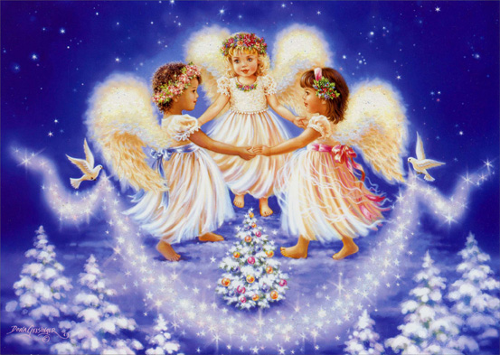Angel Children (14 cards/14 envelopes) Boxed Christmas Cards  INSIDE: May the Peace, Love and Joy of the Christmas season remain with you through the New Year.