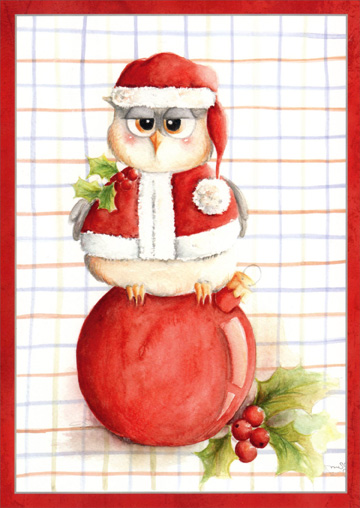 Real Hoot Christmas Owl (1 card/1 envelope) Christmas Card  INSIDE: Hope your holidays are a real hoot!