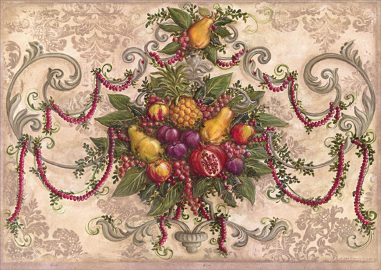 Royal Orchard Holiday (16 cards & 16 envelopes) - Boxed Christmas Cards  INSIDE: Best wishes for a Very Merry Christmas and a New Year filled with Health and Happiness