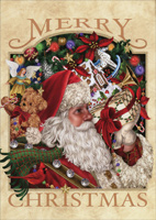 Santa with Gifts (1 card/1 envelope) LPG Christmas Card