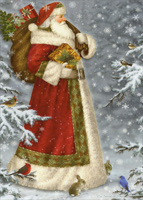 Santa in Robe (1 card/1 envelope) LPG Christmas Card