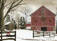 The Christmas Barn (1 card/1 envelope) LPG Christmas Card