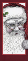 Santa Glitter (14 cards / 14 envelopes) LPG Boxed Christmas Cards