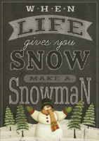 Make a Snowman (16 cards/16 envelopes) LPG Boxed Christmas Cards