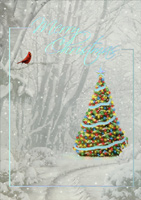 Silver Foil Memories of Christmas Past (14 cards/14 envelopes) LPG Alan Giana Boxed Christmas Cards