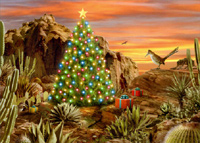 Desert Glow (1 card/1 envelope) LPG Western Christmas Card