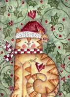 Santa Paws (1 card/1 envelope) LPG Cat Christmas Card
