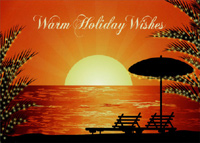 Holiday Sunset (18 cards/18 envelopes) LPG Warm Weather Boxed Christmas Cards