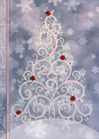 Sparkling Christmas Tree (12 cards/12 envelopes) - Boxed Christmas Cards  INSIDE: May your holidays sparkle with the joy of the season.