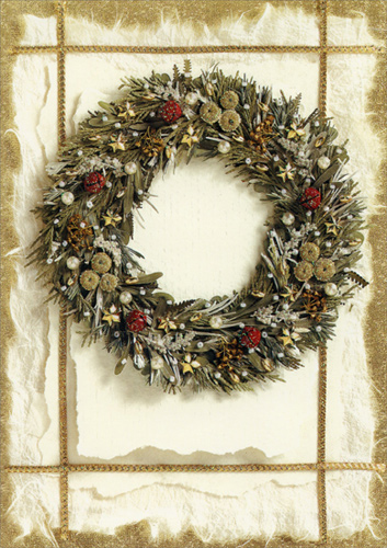 deluxe glitter wreath box of 14 christmas cards by lpg greetings - Deluxe Christmas Cards
