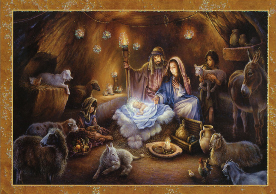 no room in the inn religious christmas card by lpg greetings