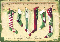 Stockings Were Hung Christmas Card