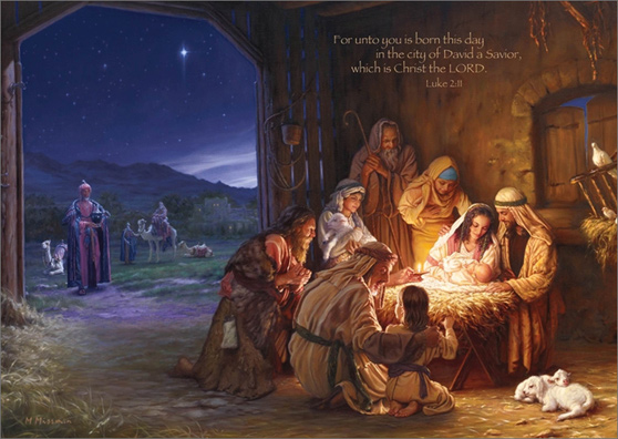 Religious Christmas Images.Light Of The World Box Of 16 Mark Missman Religious