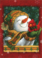 Snuggle in the Snow: Janet Stever (18 cards/18 envelopes) LPG Snowman Boxed Christmas Cards