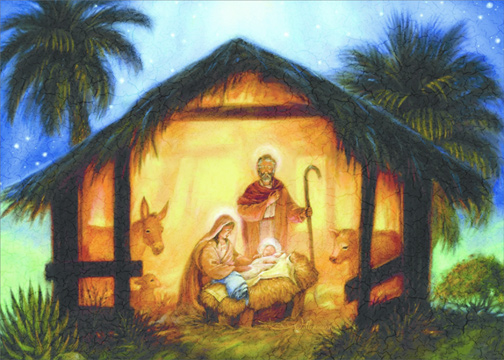 The Nativity Randy Wollenmann Religious Christmas Card By