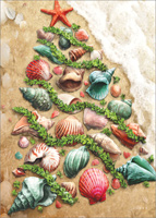 Christmas Shells: Larry Jones (18 cards/18 envelopes) LPG Warm Weather / Coastal Boxed Christmas Cards