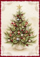 O Christmas Tree Box of 16 Christmas Cards