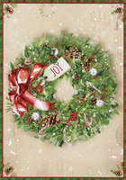 Holly Wreath Box of 16 Christmas Cards