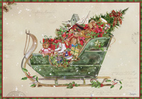 Country Sleigh Box of 16 Christmas Cards