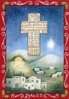 O Little Town of Bethlehem Box of 16 Christmas Cards