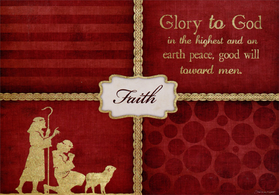 image is loading glory to god box of 14 deluxe glitter - Deluxe Christmas Cards