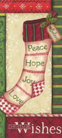 Christmas Wishes Stockings Tall Format Box of 14 Christmas Cards