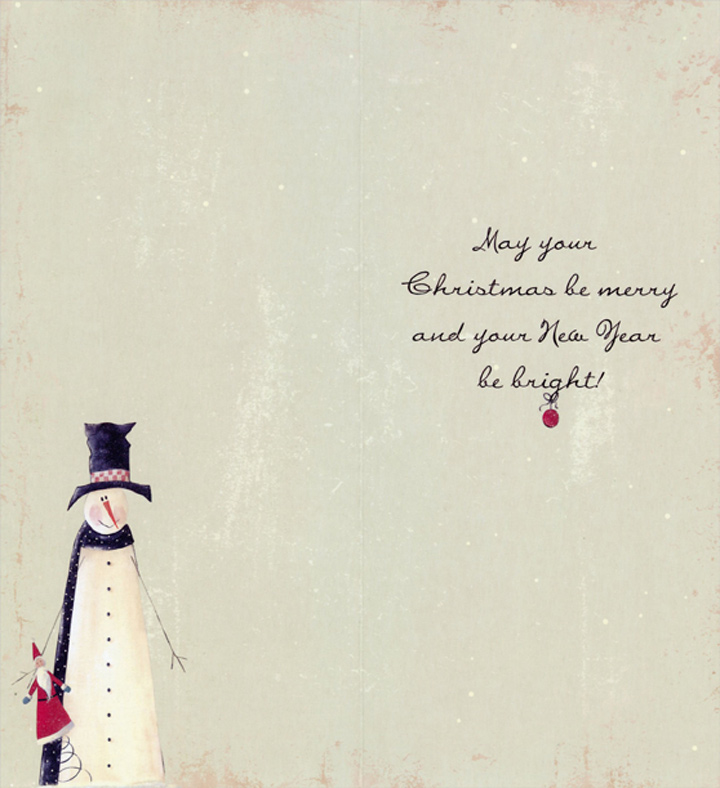 December 25 Snowman: Jill Ankrom Tall Format Christmas Card by LPG ...