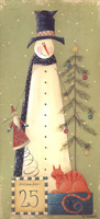 December 25 Snowman Tall Format Box of 14 Christmas Cards