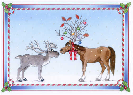 Additional Info Christmas Odd Couple By Barbara Gibson Exceptional Value Collection By Lpg Greetings Made In The Usa