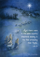 Shepherds Abiding in the Field Box of 16 Christmas Cards