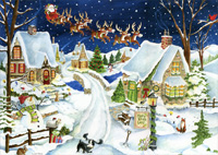 Santa's Coming Box of 16 Christmas Cards