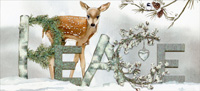 Peace Deer Box of 14 Christmas Cards