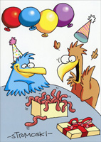 Box of Worms (1 card/1 envelope) - Birthday Card  INSIDE: May you have moments of sheer joy today.  Happy Birthday