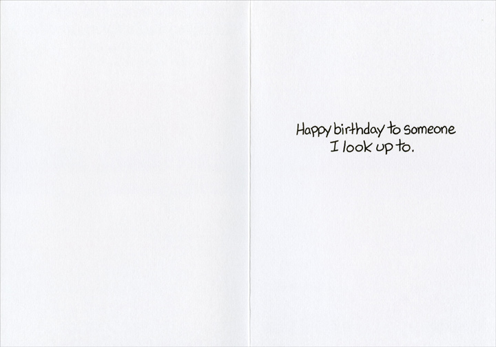 Shoe Salesman & Customer (1 card/1 envelope) Marian Heath Funny Mark Parisi Birthday Card - FRONT: This year's resolution is to be the ideal weight for my height.  What do you have with six-inch heels?  INSIDE: Happy birthday to someone I look up to.