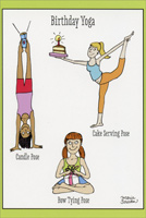 Birthday Yoga (1 card/1 envelope) - Birthday Card
