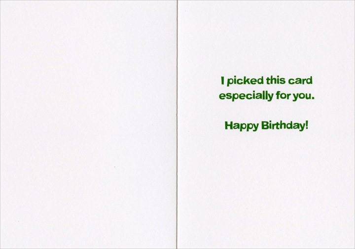 Queen Picked Card (1 card/1 envelope) - Birthday Card  INSIDE: I picked this card especially for you. Happy Birthday!