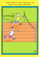 Gassy Runner (1 card/1 envelope) Nobleworks Funny Birthday Card
