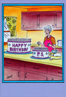 Happy Birthday P.S. (1 card/1 envelope) Nobleworks Funny Birthday Card