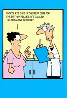 Alternative Medicine (1 card/1 envelope) Nobleworks Funny Birthday Card