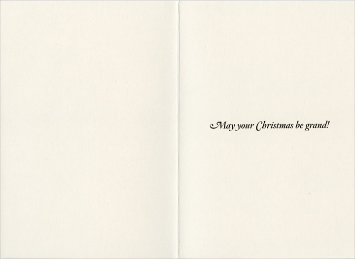 Grand Theft Auto (1 card/1 envelope) Nobleworks Funny Christmas Card - FRONT: What the hell is �Grand Theft Auto�?  INSIDE: May your Christmas be grand!