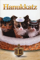 Hanukkatz (1 card/1 envelope) Nobleworks Funny Cat Themed Hanukkah Card
