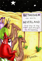 Neverland (1 card/1 envelope) Nobleworks Funny Christmas Card