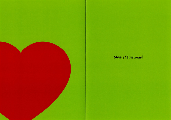 Grinch with Doctor (12 cards/12 envelopes) Nobleworks Funny Boxed Christmas Cards - FRONT: Due to your heart growing three sizes, your cholesterol has tripled.  INSIDE: Merry Christmas!